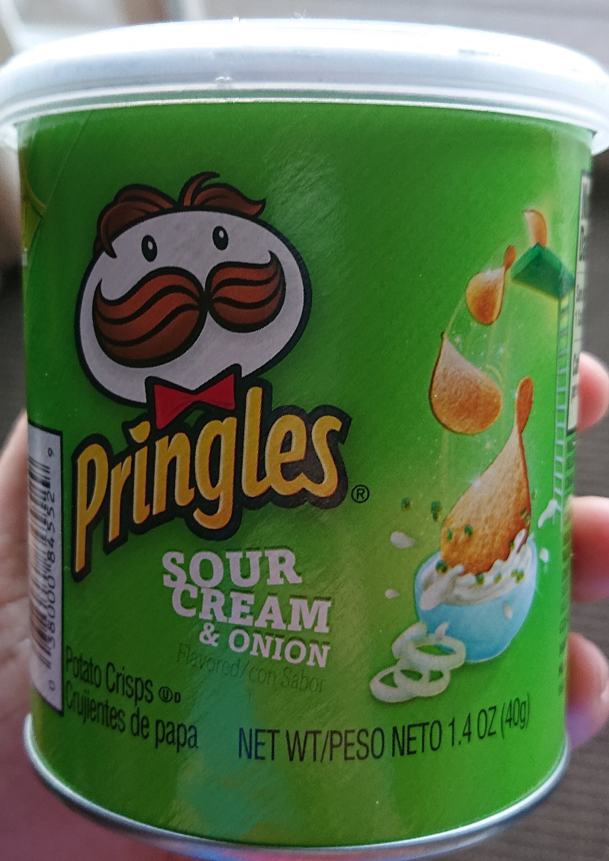 Sour cream & onion potato crisps, sour cream & onion - Producto - es