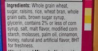 Raisin Bran Crunch - Ingredients