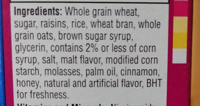 Cereal, original - Ingredients - en