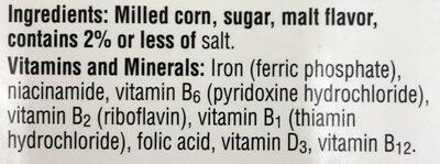 Kelloggs breakfast cereal - Ingrédients - en