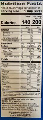 Cereal - 栄養成分表 - en