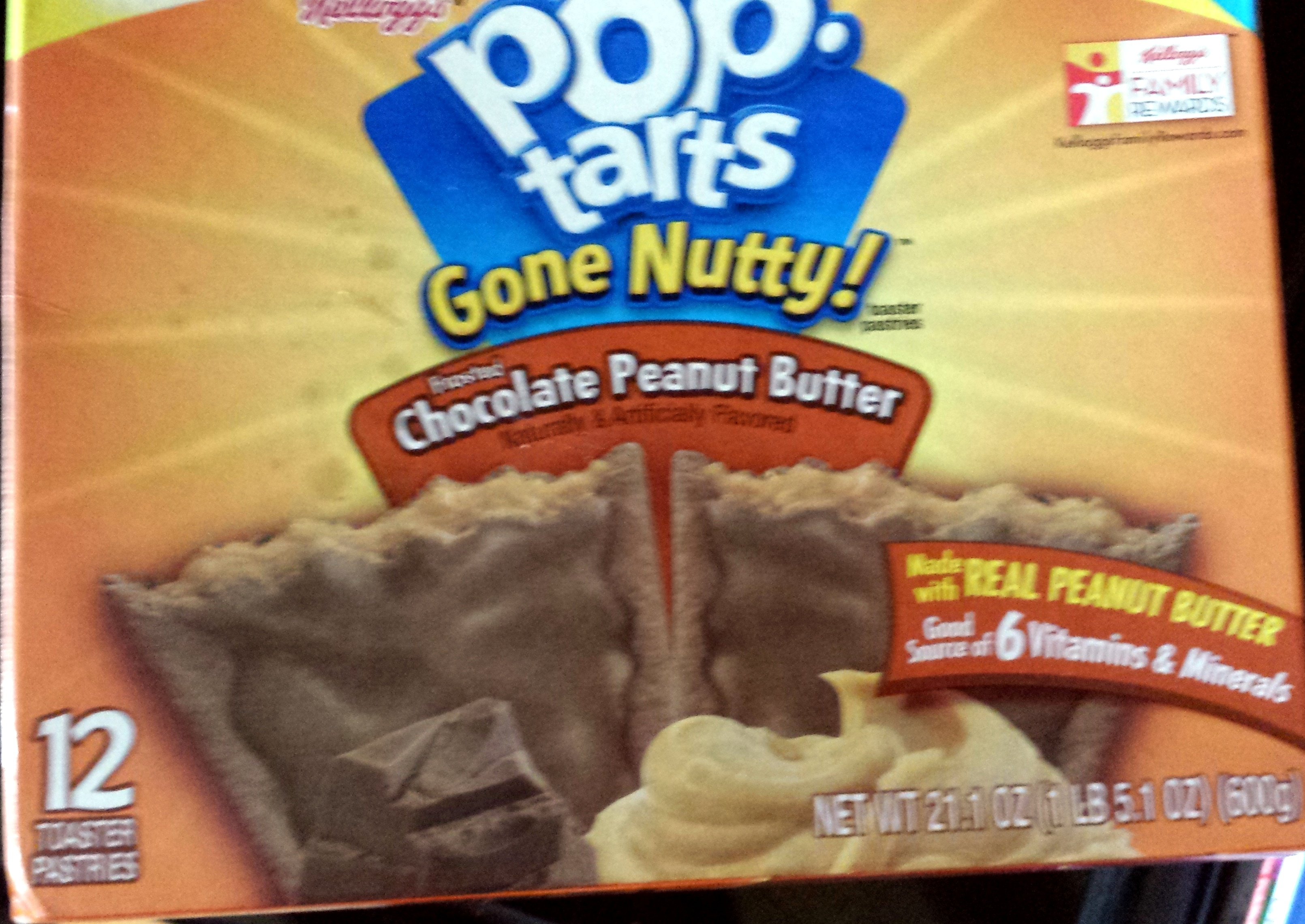 Kellogg's, pop-tarts, frosted toaster pastries, chocolate peanut butter, frosted chocolate peanut butter - Product - en