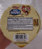 Kellogg's Rice Krispies Cereal Brown Rice Whole Grain 1oz - Product - en