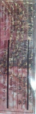 Italian dry salami black pepper coated - Nutrition facts - en