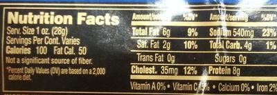 Italian Dry Salami - Nutrition facts