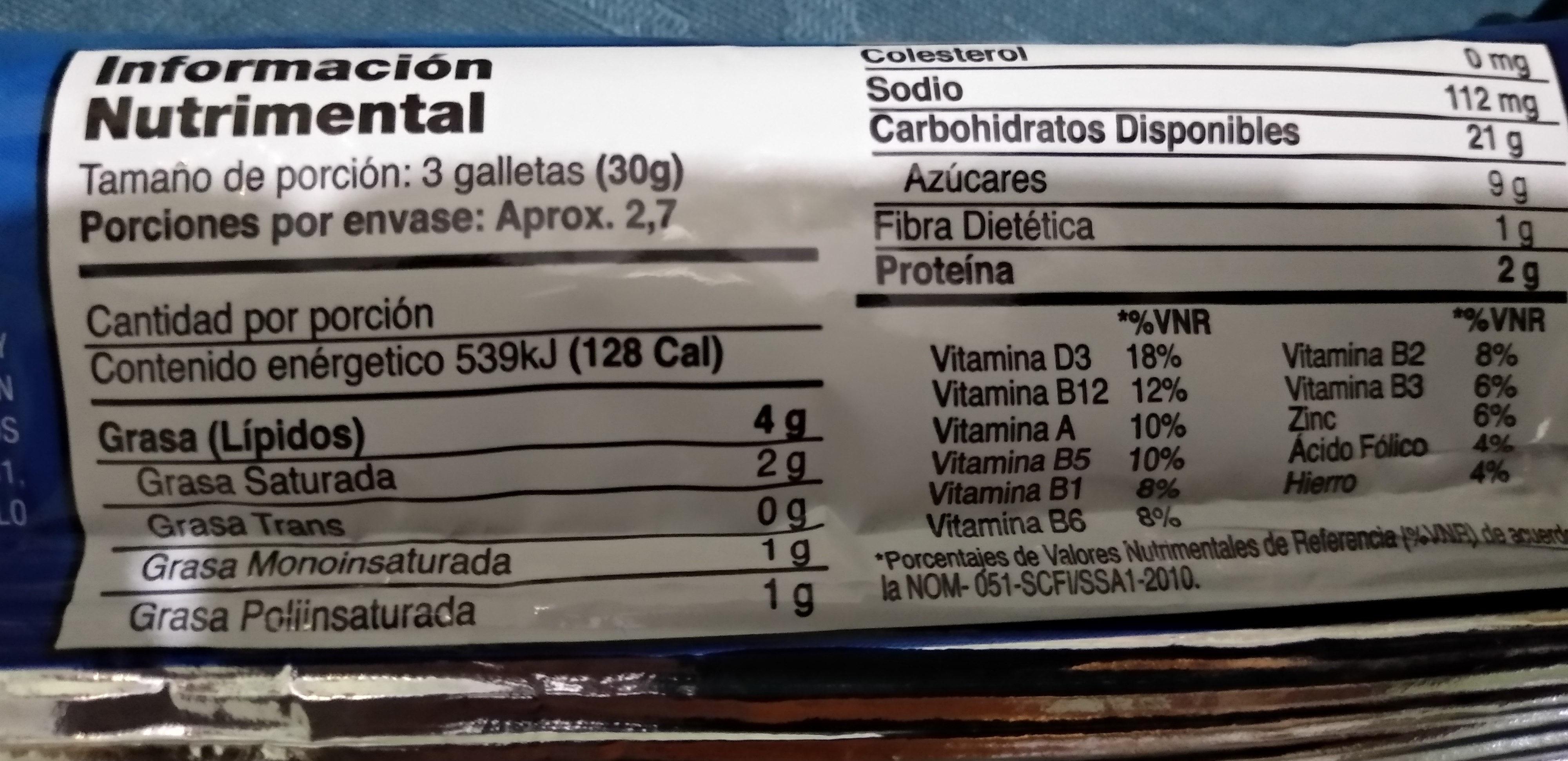 Troyanas - Voedingswaarden - es