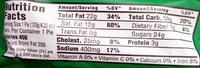 Apple Real Fruit Pie - Nutrition facts