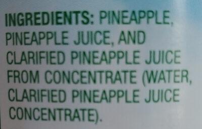 Pineapple - Inhaltsstoffe - en