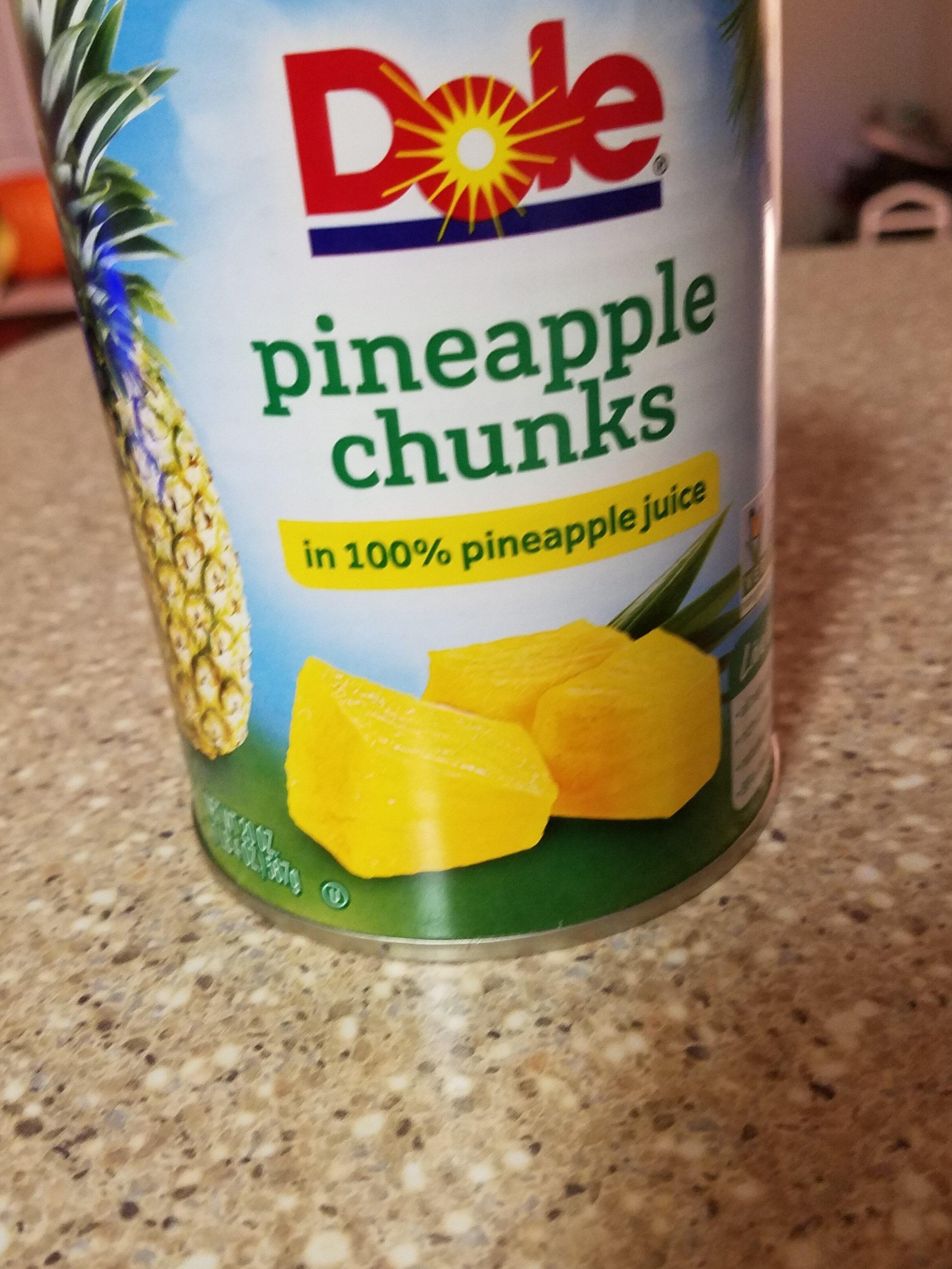 Pineapple chunks in 100% pineapple juice - Produkt - en