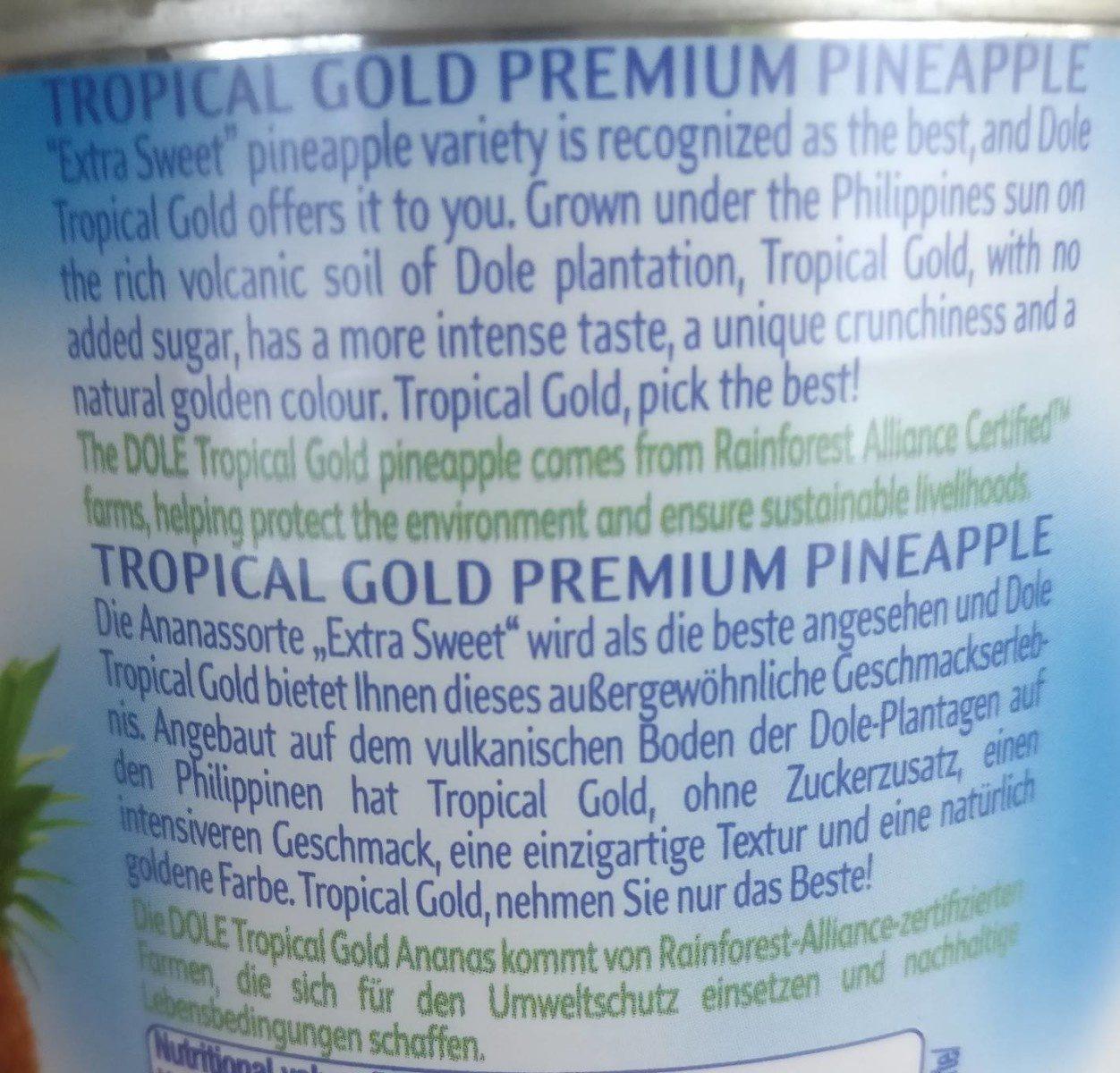 Tropical Gold Premium Pineapple - Ingredients