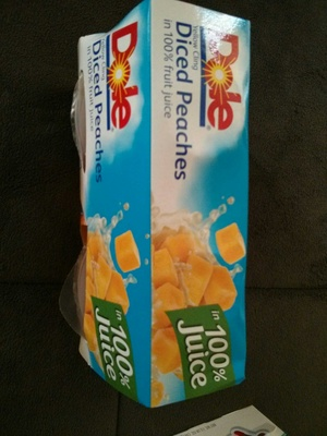 Yellow cling diced peaches in 100% fruit juice - Product