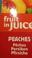 Dole Fruit In Juice, Peaches Pfirsich - Produit