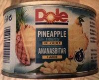 Ananasbitar i juice - Product