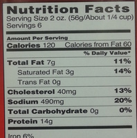 Corned beef - Nutrition facts - en