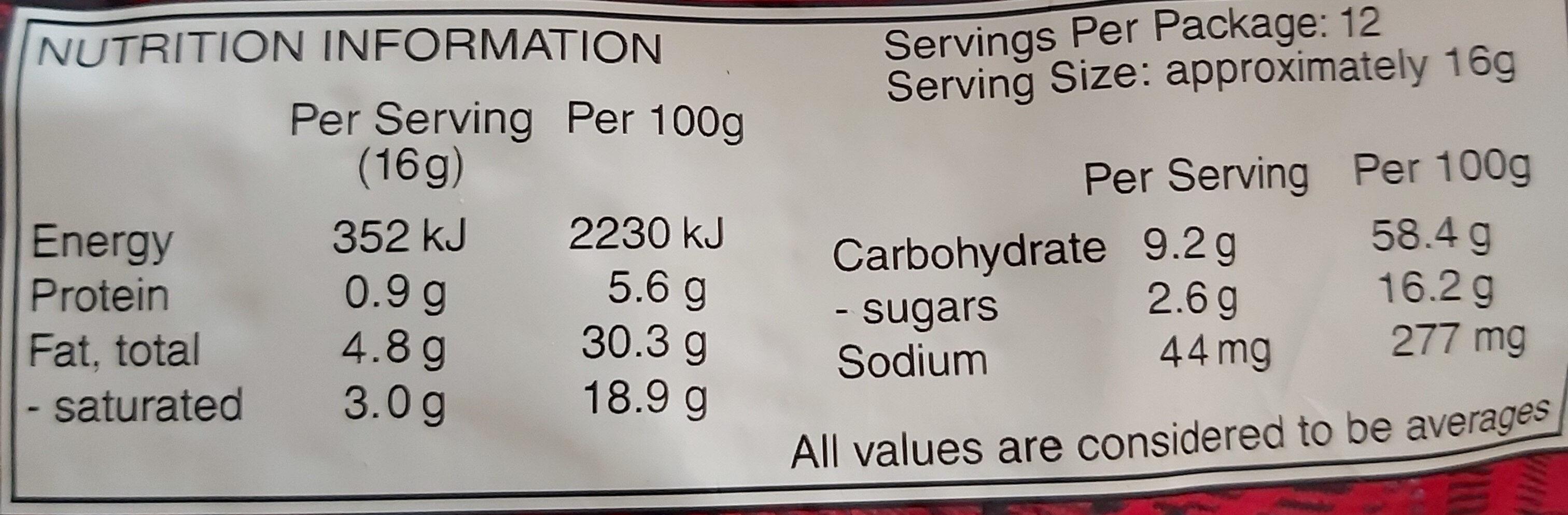 walkers shortbread - Nutrition facts - en