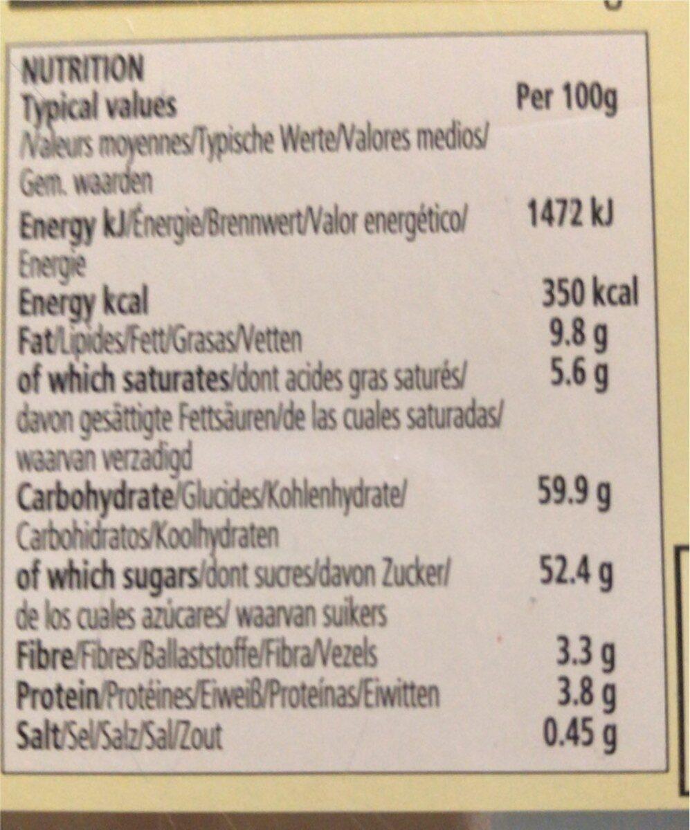 Luxury rich fruit cake - Voedingswaarden - fr
