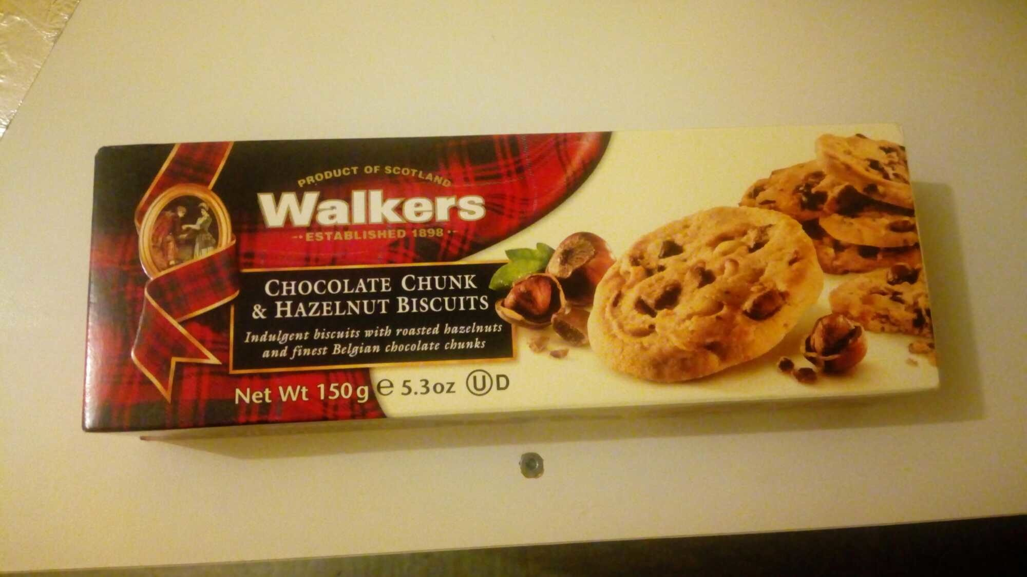 Walkers Hazelnut & Chocolate Chip Biscuits - Producto - fr