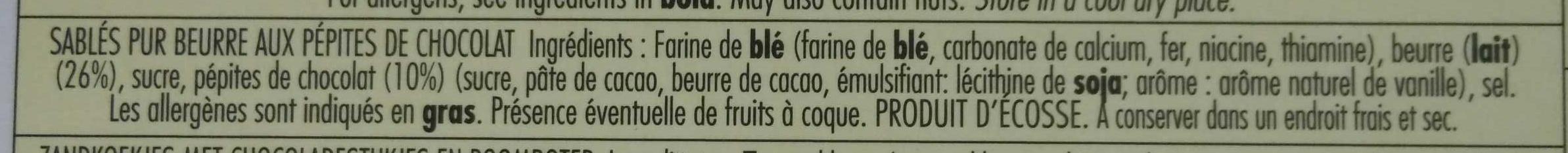 Pure butter shortbread - Ingredients