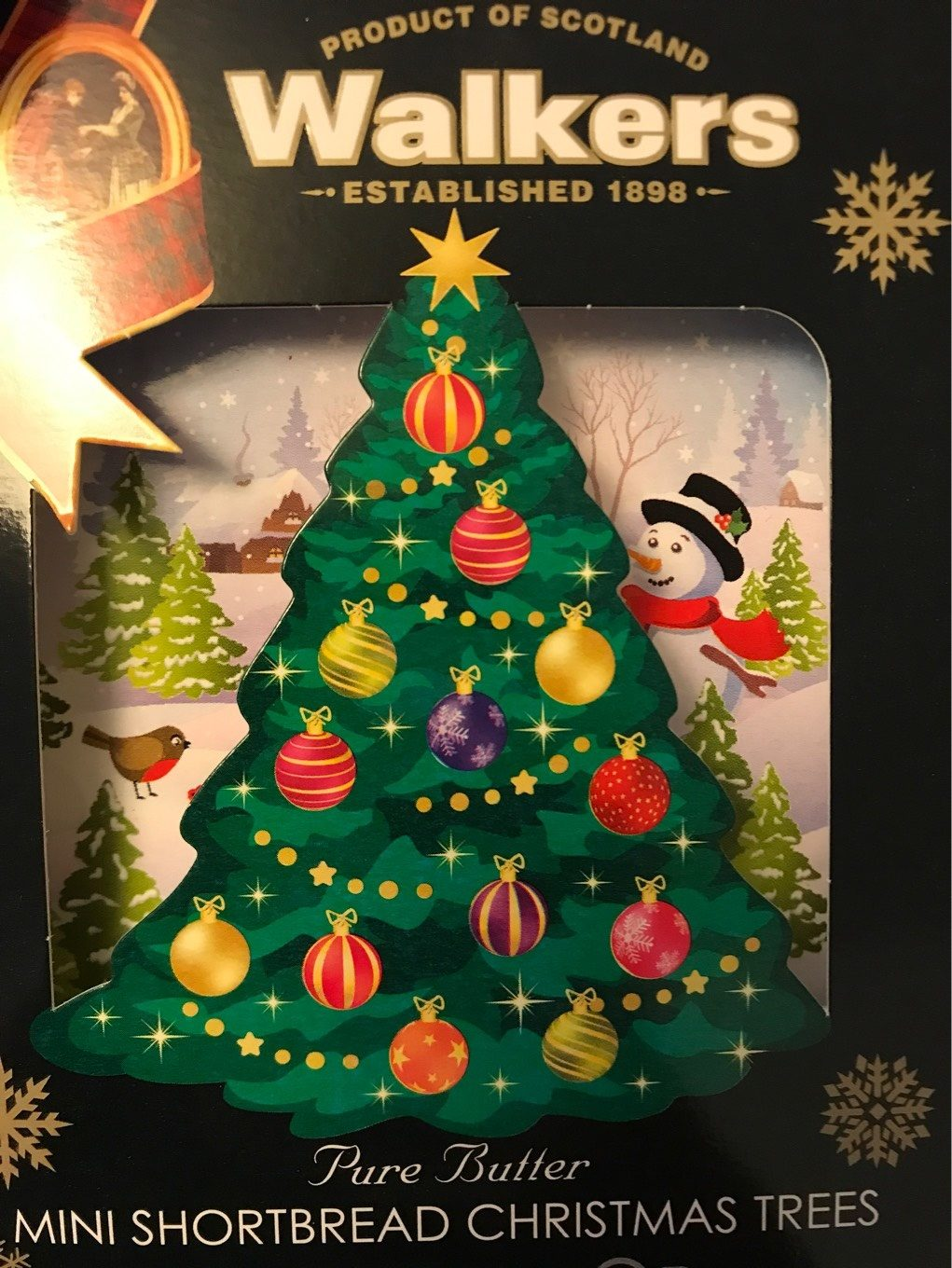 Pure Butter Mini Shortbread Christmas Trees Walkers 150 G