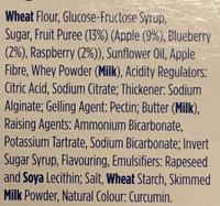 Fruit Crumble Biscuits - Ingredients