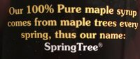 100% pure maple syrup - Ingrédients - fr