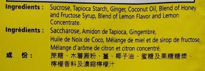 Ginger Chews - Ingredients