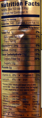 ... Bush's Best Homestyle Baked Beans - Nutrition facts