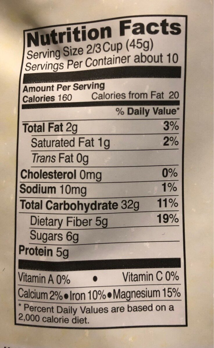 The muesli - Nutrition facts - fr