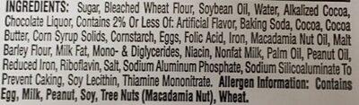 Kwikstar brownie cookies - Ingredients - en