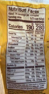 Organic 7 grain pancake & waffle whole grain mix - Nutrition facts