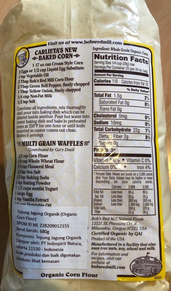 Farine de mais - Ingrediënten