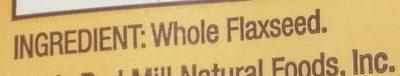 Flaxseed meal - Ingredients