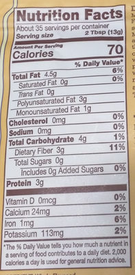 Flaxseed meal - Nutrition facts