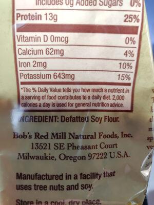 High Protein TVP - Inhaltsstoffe - en
