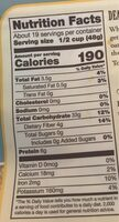 Extra thick rolled oats whole grain - Nutrition facts - en