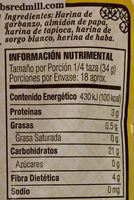 Harina multiuso sin gluten Red Mill - Nutrition facts - es