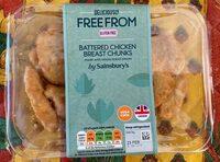 Battered chicken breast chunks - Produit - en