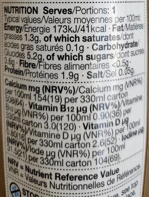 Soya iced coffee drink - Informations nutritionnelles - en
