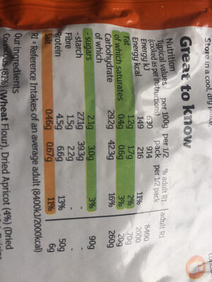 Giant Moroccan Style Couscous - Informations nutritionnelles