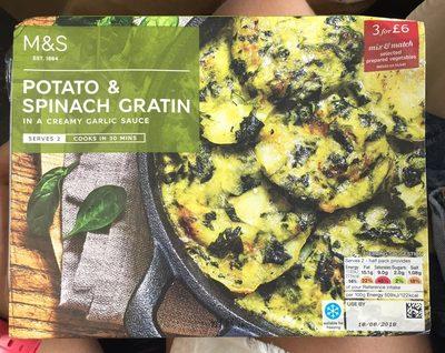 Potato & spinach gratin - Product - en