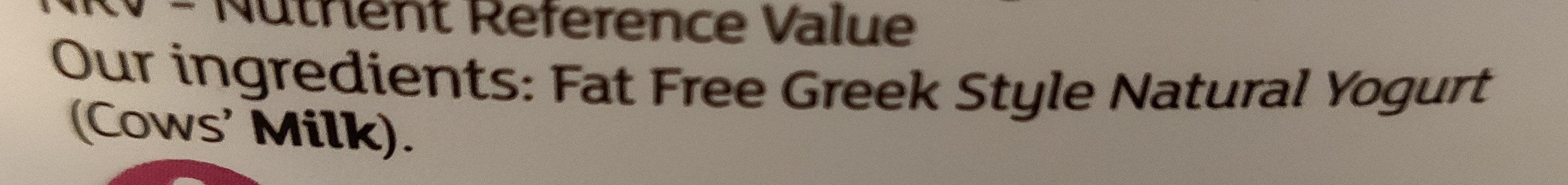 Fat free greek style yogurt - Ingrédients - en
