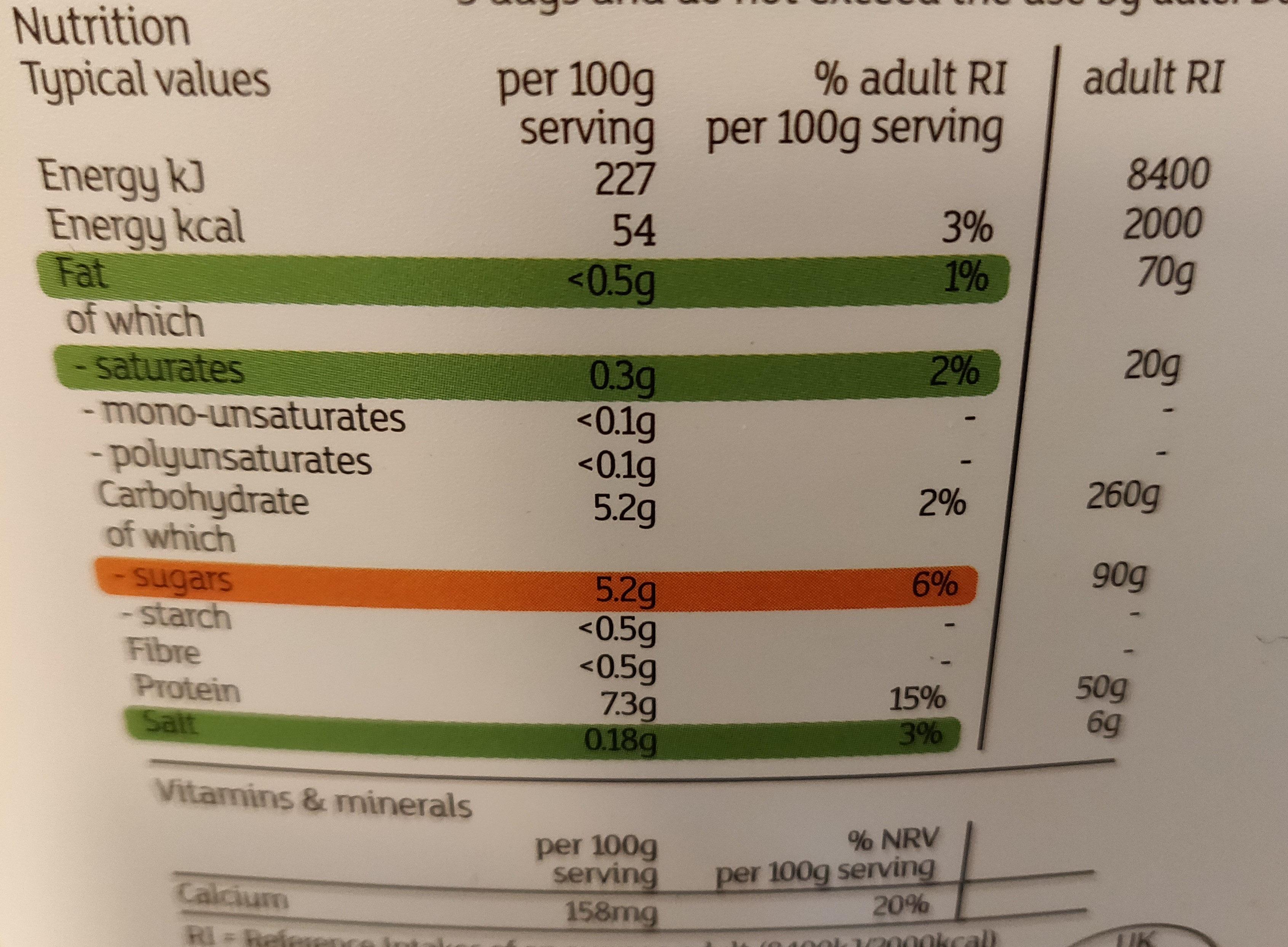 Fat free greek style yogurt - Informations nutritionnelles - en