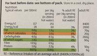 Instant Capuccino Low Sugar - Informations nutritionnelles - en