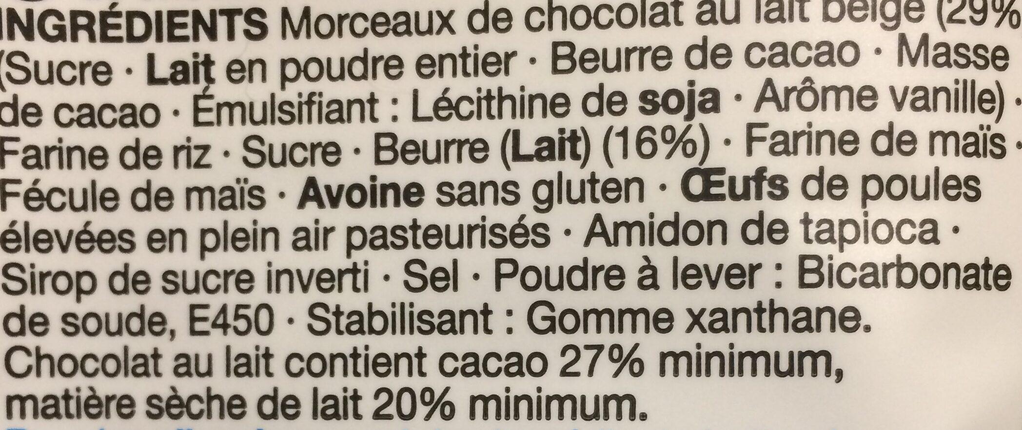 Belgian Milk Chocolate Chunk Cookies - Ingredients - fr