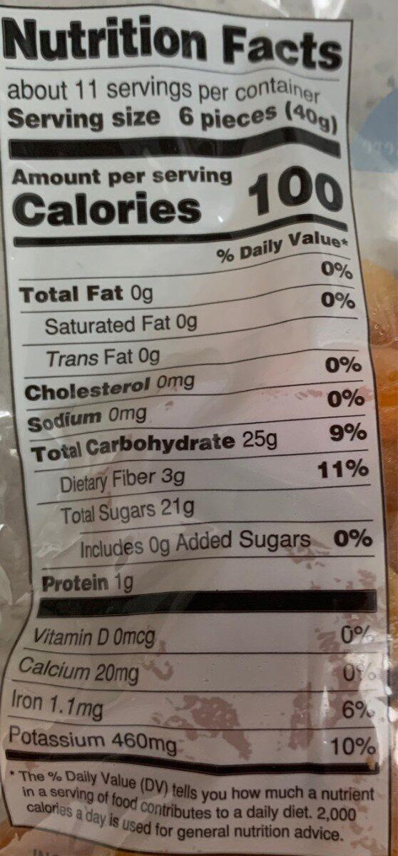 Dried Apricots - Nutrition facts - en