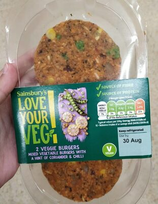 Love Your Veg 2 Veggie Burgers - Produit - en