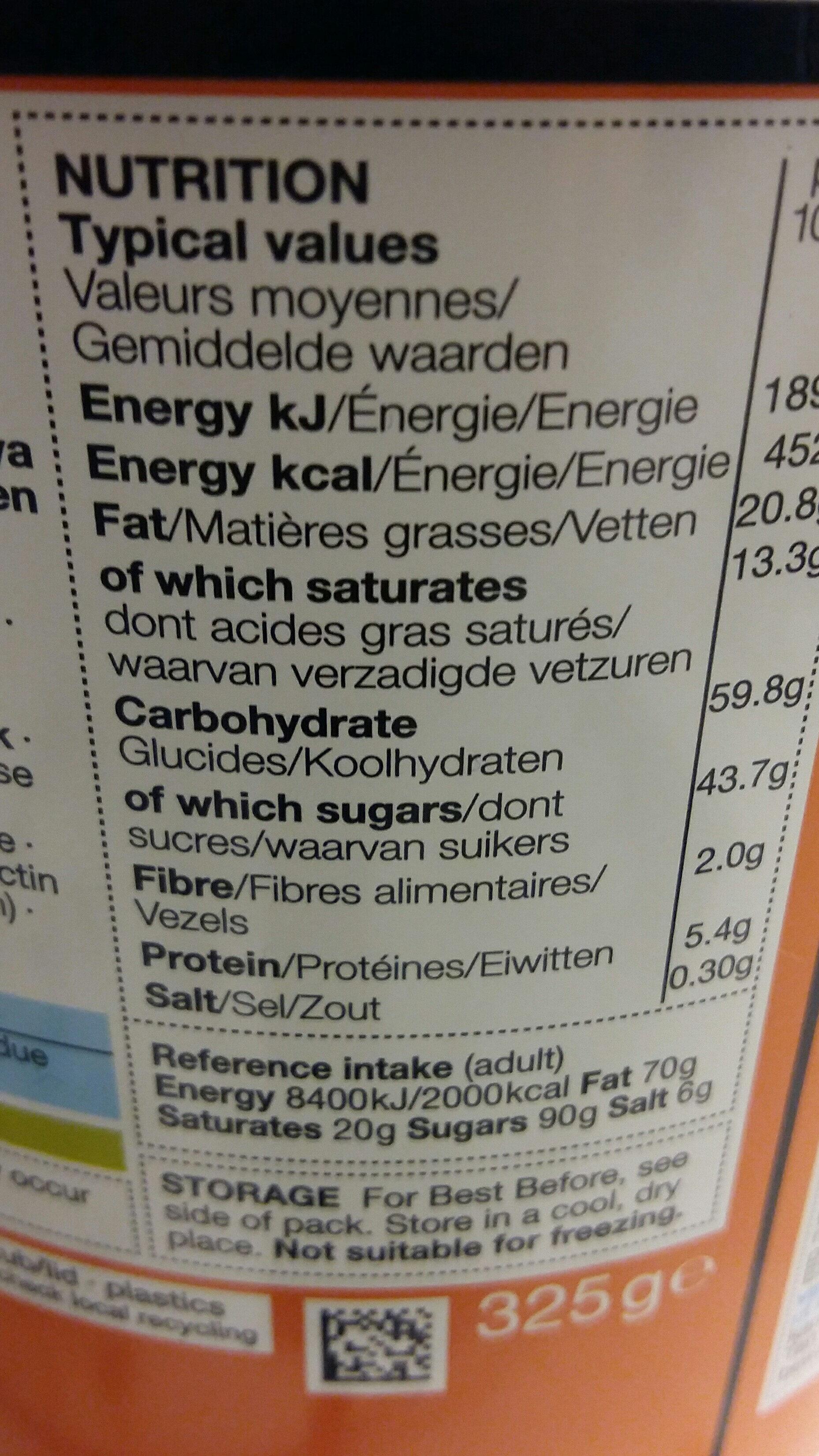 Chocolate & Orange - Voedingswaarden - en