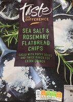 Sea salt rosemary flatbread chips - Produit - en
