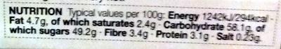 Gluten Free Christmas Pudding - Voedingswaarden - en