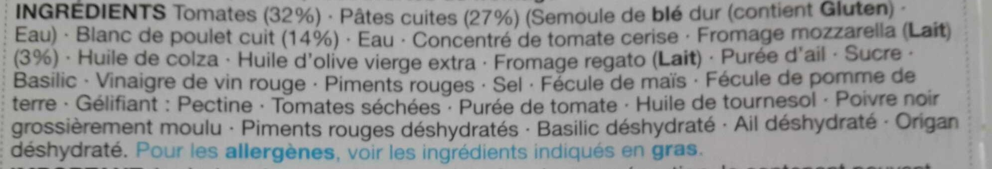 Chicken Arrabbiata - Ingredients - fr